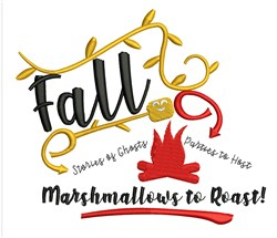 Marshmallows To Roast embroidery design