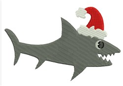 Christmas Shark embroidery design