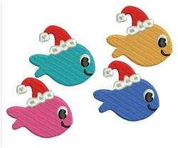 Christmas Fish embroidery design