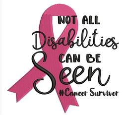 Cancer Survivor embroidery design