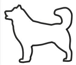 Outline Dog embroidery design