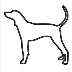 Hound Outline embroidery design