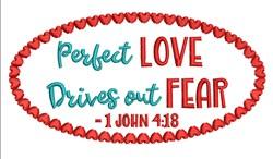 1 John 4:18 embroidery design