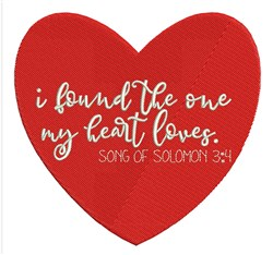 Song Of Solomon 3:4 embroidery design