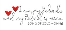 Song Of Solomon 6:3 embroidery design