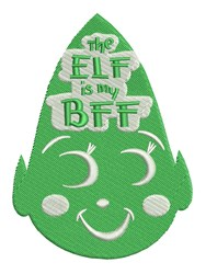 Elf IS BFF embroidery design