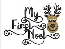 My First Noel embroidery design