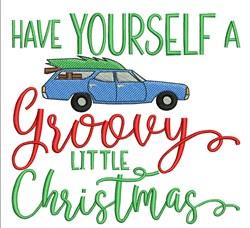 Groovy Christmas embroidery design