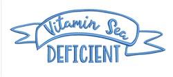 Vitamin Sea Deficient embroidery design