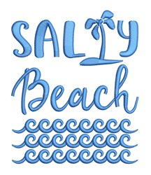 Salty Beach embroidery design