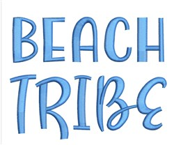 Beach Tribe embroidery design