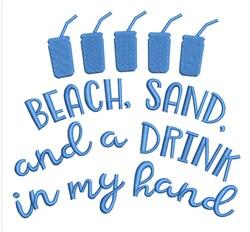 Beach Sand Drink embroidery design