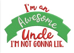 Awesome Uncle embroidery design