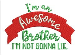Awesome Brother embroidery design