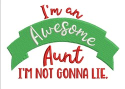 Awesome Aunt embroidery design