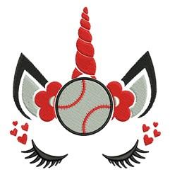 Baseball Unicorn embroidery design