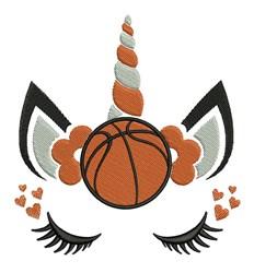Basketball Unicorn embroidery design
