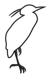 Heron Outline embroidery design