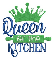 Queen Of Kitchen embroidery design