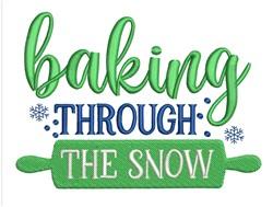 Baking Through Snow embroidery design
