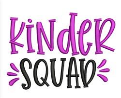 Kinder Squad embroidery design