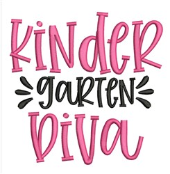 Kindergarten Diva embroidery design