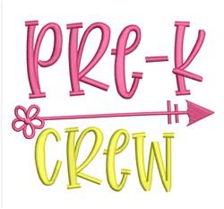 Pre-K Crew embroidery design