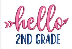 Hello 2nd Grade embroidery design