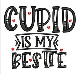 Cupid Is Bestie embroidery design