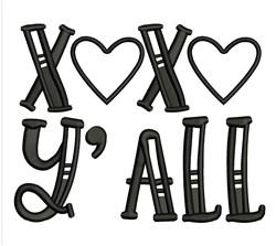 XOXO Yall embroidery design