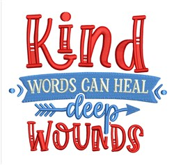 Heal Wounds embroidery design