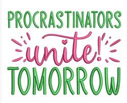 Procrastinators embroidery design