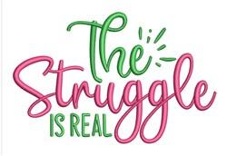 The Struggle embroidery design