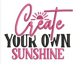 Create Sunshine embroidery design