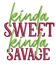 Sweet Savage embroidery design