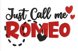 Call Me Romeo embroidery design
