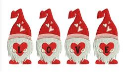 Love Gnomes embroidery design