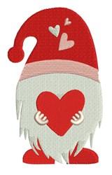 Valentine Gnome embroidery design