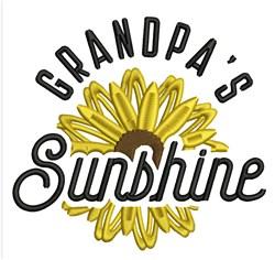 Grandpas Sunshine embroidery design