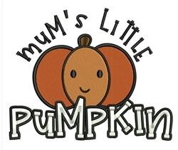 Mums Pumpkin embroidery design