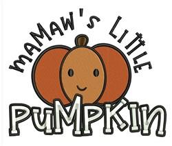 Mamaws Pumpkin embroidery design