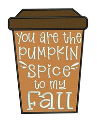 The Pumpkin Spice embroidery design