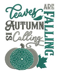 Autumn Is Calling embroidery design