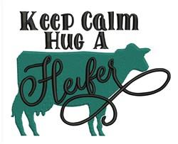 Hug A Heifer embroidery design