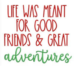 Great Adventures embroidery design