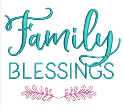 Family Blessings embroidery design