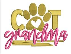 Cat Grandma embroidery design