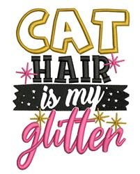 Cat Hair Glitter embroidery design