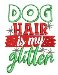 Dog Hair Glitter embroidery design