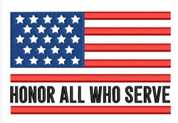 Honor All Who Serve embroidery design